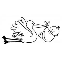Tampon Bébé cigogne
