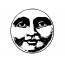 Visage de pleine lune