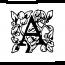 Lettre A abécédaire ancien