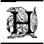 Lettre H abécédaire ancien